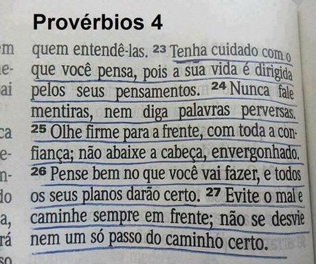 Proverbios 4.23-27 BLH