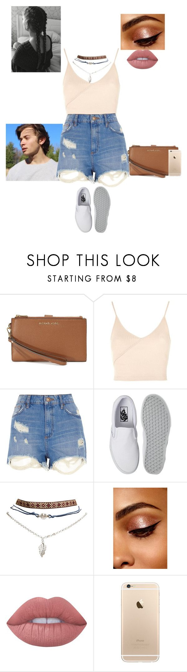"""Summer date with Alec"" by treasurematlock ❤ liked on Polyvore featuring MICHAEL Michael Kors, Topshop, River Island, Vans, Wet Seal and Lime Crime"