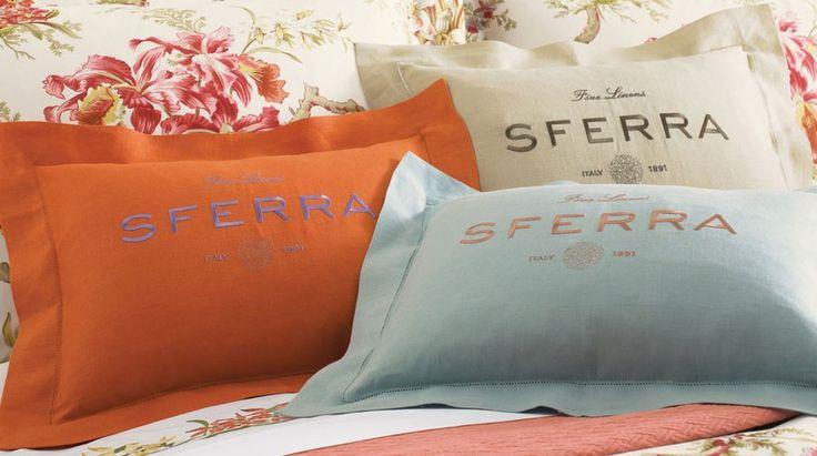 SFERRA Linen boudoir pillows