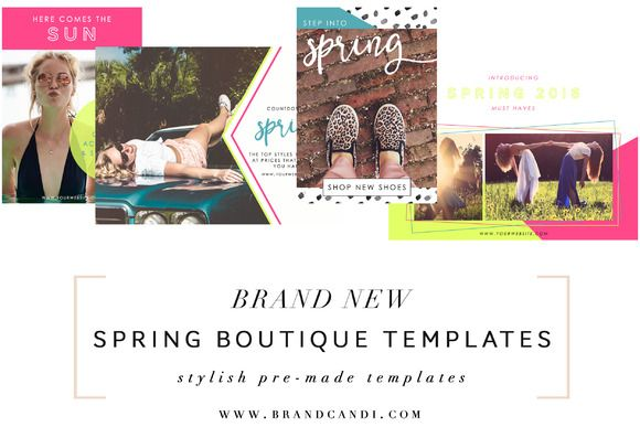 Boutique Marketing Templates by Brand Candi on @creativemarket