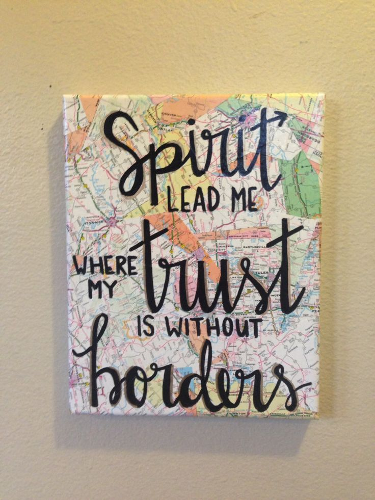 A personal favorite from my Etsy shop https://www.etsy.com/listing/399706197/spirit-lead-me-where-my-trust-is-without