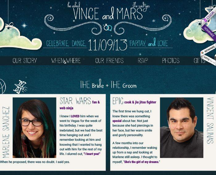 20 Beautiful Wedding Invitation Website Designs