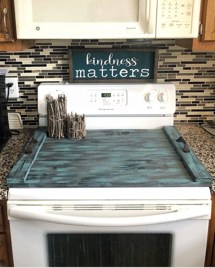 Glass Stove Top Cover Noodle Board Farmhouse Kitchenboard
