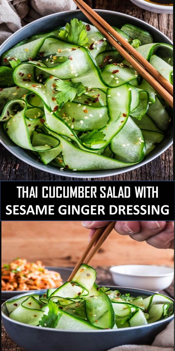#BEST #THAI #CUCUMBER #SALAD #WITH #SESAME