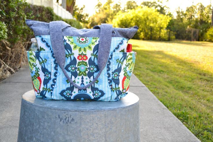Sew a medium sized diaper bag with plenty of pockets for staying organized! Check out the full tutorial from Blue Susan Makes.