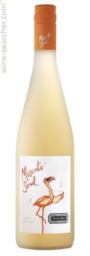 Santa Ema Moscato Soul. White wine from Central Valley Chile with a blend of apricot and peaches.