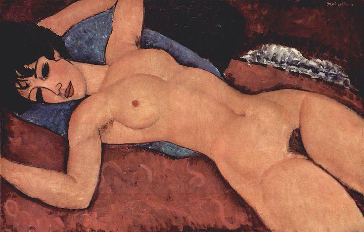 [Amedeo Modigliani] Red nude, 1917