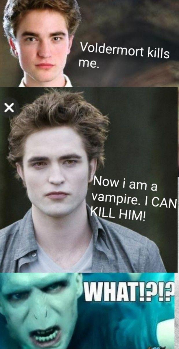 Harrypotteraesthetic Harry Potter Twilight Harry Potter Vs Twilight Harry Potter Memes Hilarious