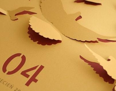"""다음 @Behance 프로젝트 확인: """"""""Cut-Out"""" Wall Calendar"""" https://www.behance.net/gallery/7361163/Cut-Out-Wall-Calendar"""