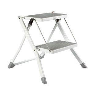 Step stools are an absolute must-have for closet + garage storage. Here are 9 sturdy options >>>: Slim Folding Step Stool