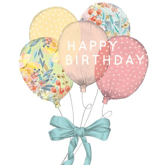 Happy Birthday - pretty lace floral balloons