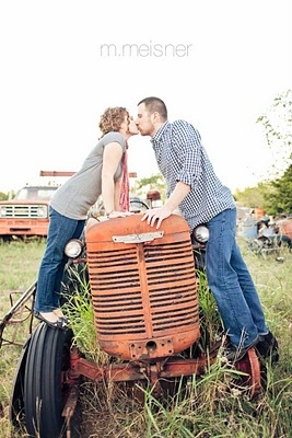 engagement pic would be green tractor