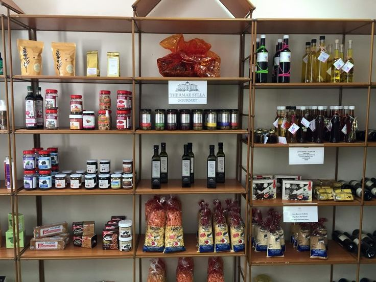 Our mini boutique with gourmet products by #ThermaeSylla!