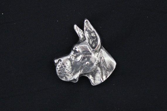 Great Dane head cut dog pin limited edition by ArtDogshopcenter