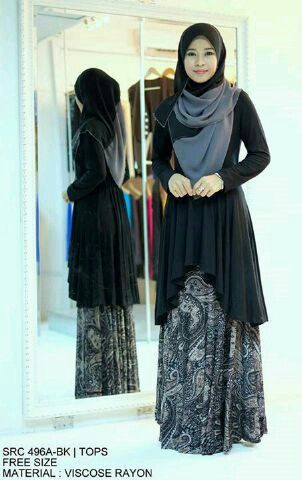 INA batik black seri@93.000 ecer@103.000, maxi+pasmina, bhn spdk korea kombinasi batik halus, po semingguan kk
