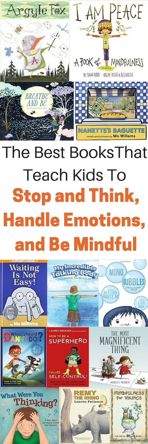 Connect with kids. Books to teach kids self-control and self-regulation skills.