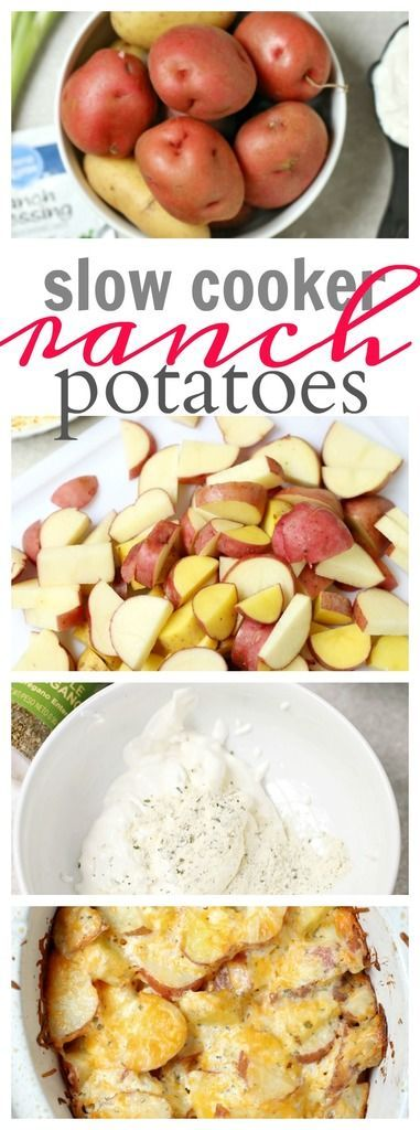 Slow Cooker Ranch Potatoes - simple side dish that's perfect for any meal, potluck or even the holidays!
