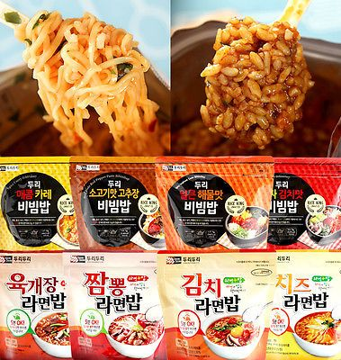 Korean Food Yukgejang Noodle & Rice Ramenbap MRE Just Pour Hot Water * 3EA