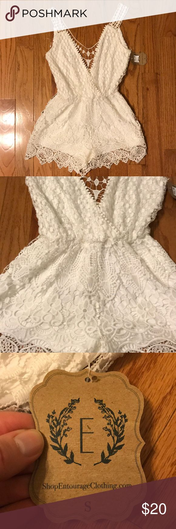 Illa Illa White Crochet Romper Size Small NWT Illa Illa White Crochet Romper Size Small. Purchased from a boutique and never got to wear, beautiful details would be perfect for this Spring and Summer! Fully Lined Romper. New With Tags, asking $20. Smoke Free Home Illa Illa Dresses