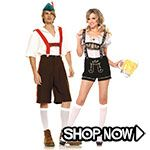 Oktoberfest Couple Costumes - All Couple Costumes via TrendyHalloween.com #trendyhalloween #halloween #halloweencostumes #costumes #oktoberfest