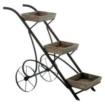 Conjunto de cachepots com suporte old car - Westwing.com.br - Tudo para uma casa com estilo