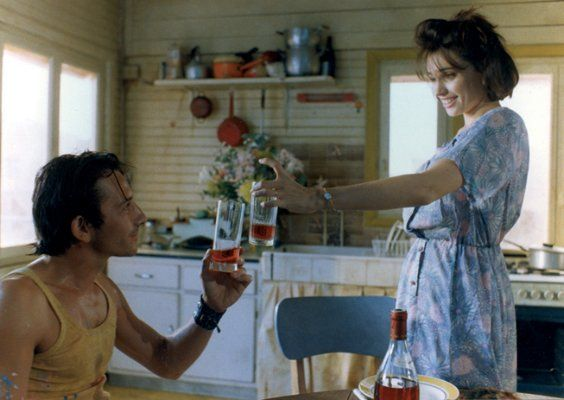 Still of Jean-Hugues Anglade and Béatrice Dalle in Betty Blue