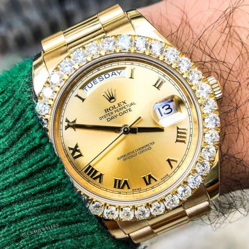 Rolex Presidential Gold With a Beautiful Diamond Bezel Have...
