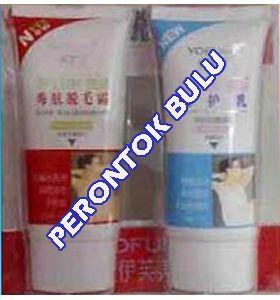 PENGHAPUS TATTO PERMANEN: Cream Perontok Bulu super CEPAT