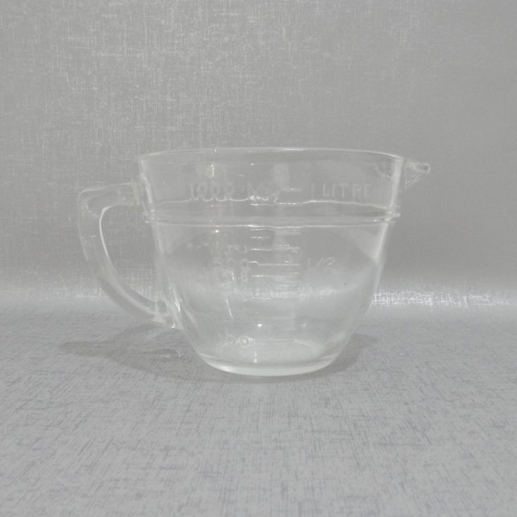 Fire King Anchor Hocking 4 Cup Measuring Cup by MidCenturyMagnolia on Etsy #midcentury #anchorhocking - SOLD