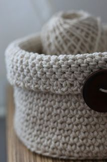 Coș croșetat / Crochet basket
