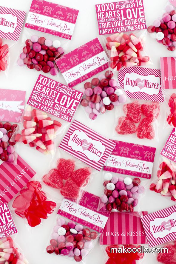 DIY Valentine's Day Free Printable Treat Bag Toppers
