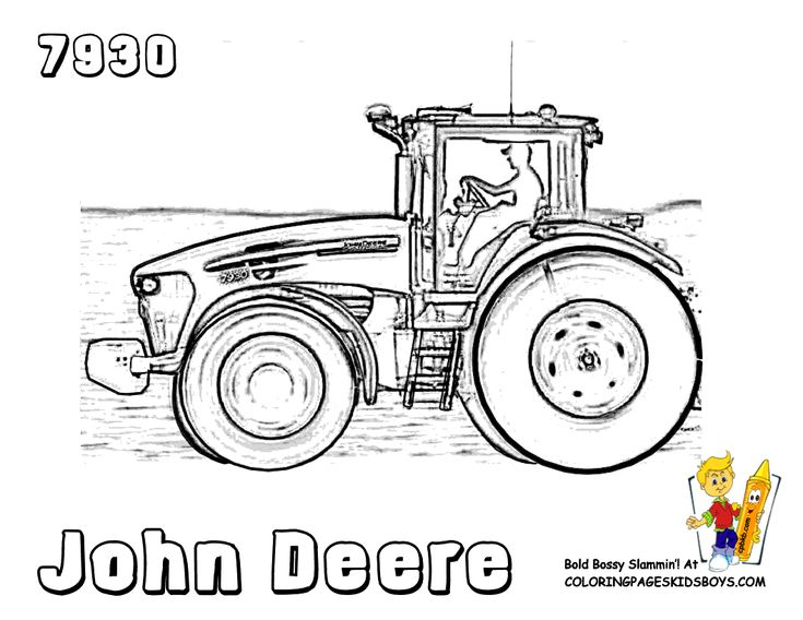 John Deer Tractor 7930 coloring pages for kids...lots of printable sheets