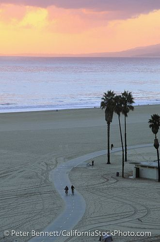 Santa Monica State Beach and Bicycle Path, Santa Monica, California (LA) by peterbphoto1390, via Flickr