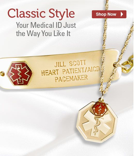 Medical Alert ID Bracelets Necklaces & Medic Jewelry for Men Women and Kids