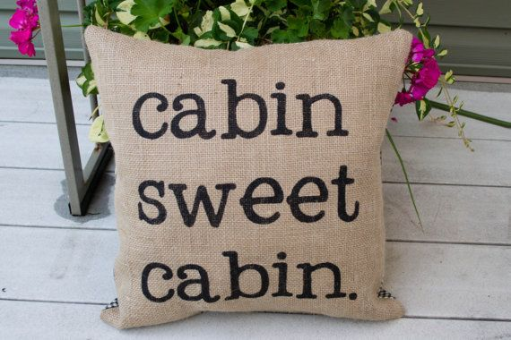 *for my bedroom* Hey, I found this really awesome Etsy listing at http://www.etsy.com/listing/158127869/stenciled-burlap-cabin-pillow-lake-or