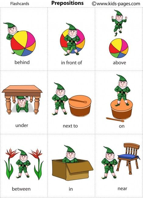 Kids Pages - Elf Prepositions for Christmas time