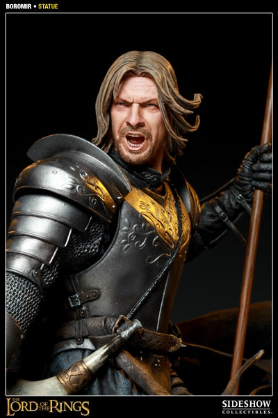 This new Boromir Statue by Sideshow Collectibles depicts the Son of Gondor ready for battle. Featuring a stunning sculpt of actor Sean Bean as Boromir, this hand-crafted, Lord of the Rings statue stands 24 inches tall. Add the limited edition Boromir Statue to your Lord of the Rings collection today!The Lord, Boromir Lord, Boromir Statues, Collection Today, Rings Collection, Sideshow Collection, Actor Sean, Products, Hobbit Statues