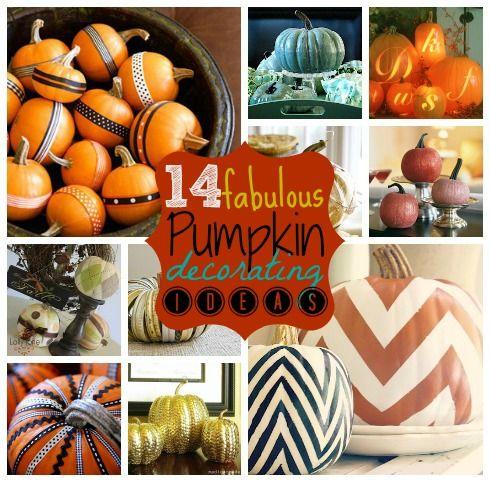 14 Fabulous Pumpkin Decor Ideas   MyBlessedLife.net: Pumpkin Decor Ideas Jpg, Decorate Pumpkins, Holiday, Fabulous Pumpkin, Fall Pumpkins Items, Craft, Decorating Ideas Maybe, Chevron Pumpkin, Pumpkin Decorating