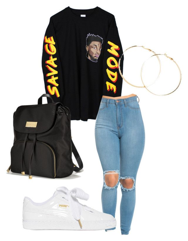 """savage mode"" by outherspace on Polyvore featuring Puma, Victoria's Secret and Forever 21"