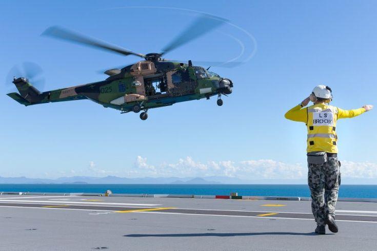 Australian Navy's HMAS Adelaide participates in tri-service exercise Sea Explorer.