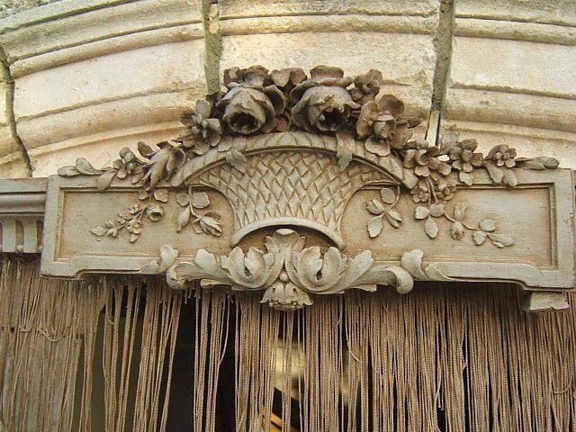 Stunning Antique French Wood Pediment Canopy Ciel De Lit