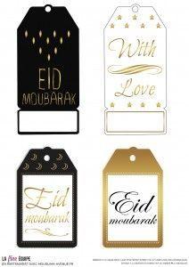 """free printable tag """"Eid Mubarak"""""""