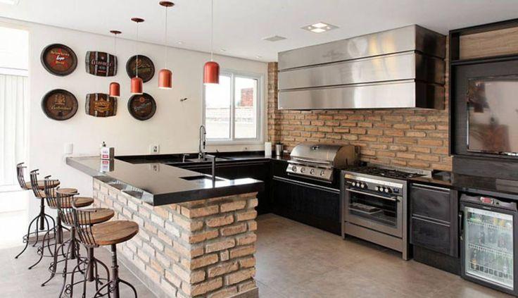 Besonders charmant sind Küchen, die ein rustikales Flair versprühen. Wie das am besten geht? Natürlich mit Backstein! Die folgenden Bilder geben Inspiration!