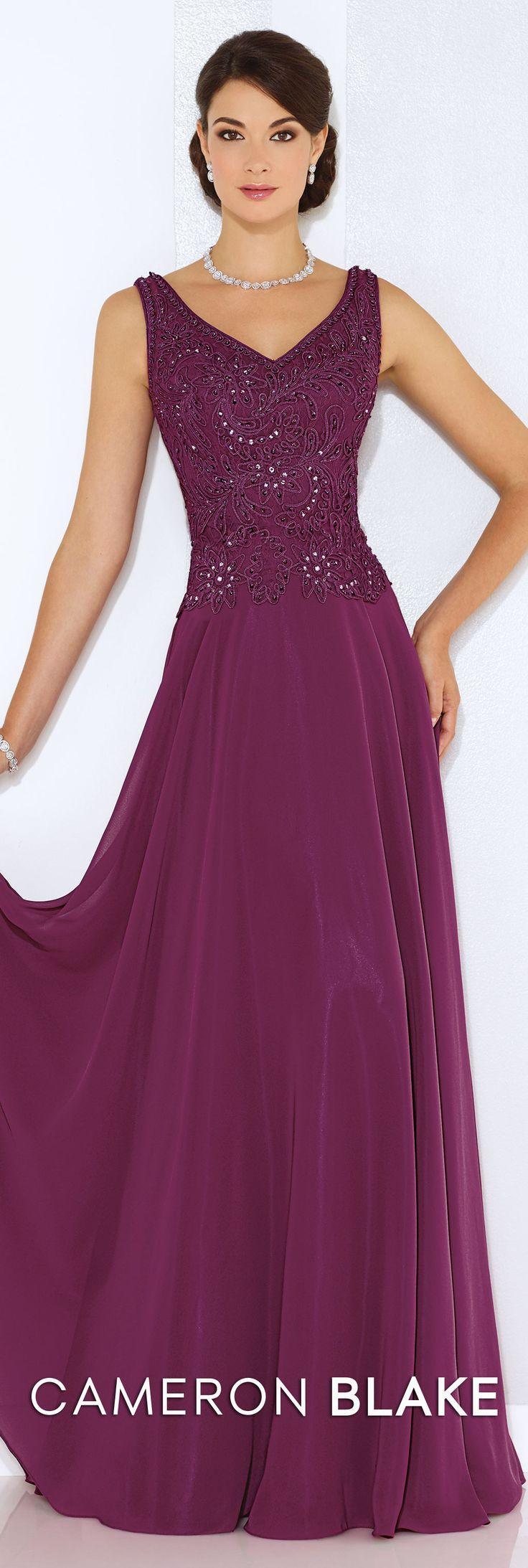 Cameron Blake Spring 2016 - Style No. 116654 #formaleveningdresses  Elizabeth Classic Necklace and Elizabeth Earrings www.davidtuteraembellish.com