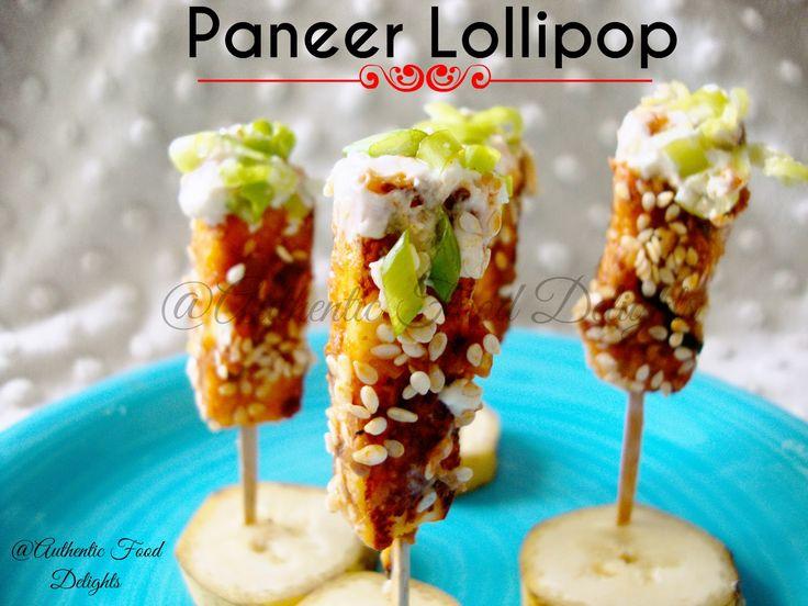 Authentic Food Delights: Paneer Lollipop, Healthy Indian Vegetarian snack.