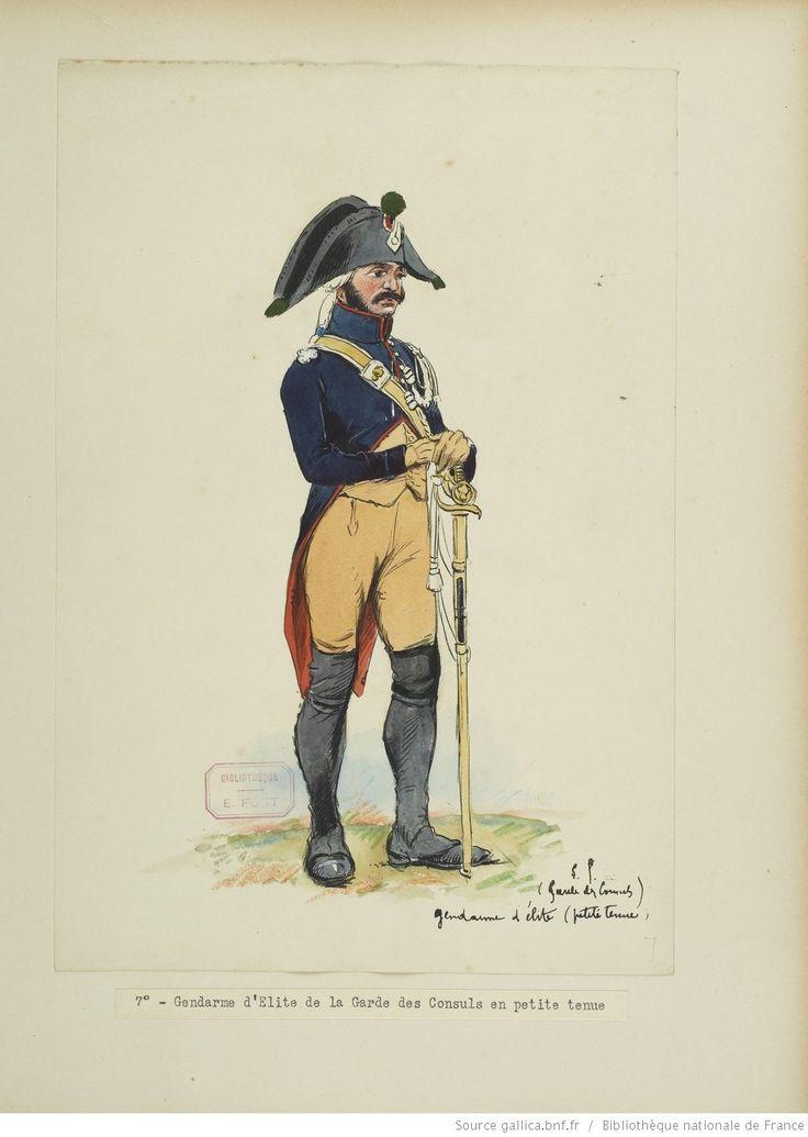 Gendarme di élite della guardia dei consoli - E. Fort