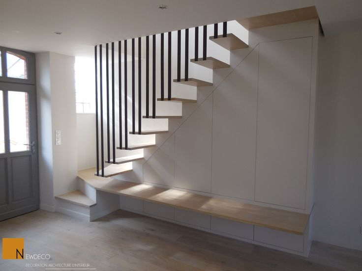 Escalier sur mesure escalier contemporain garde corps for Placard design contemporain