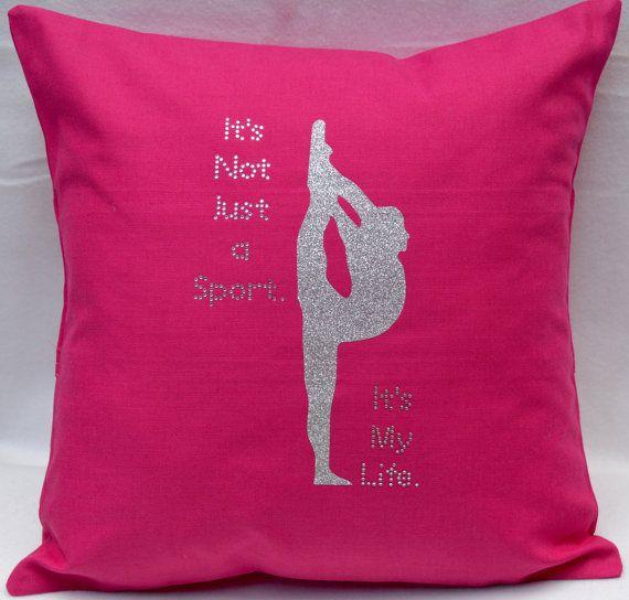 Cheerleading Pillow Rhinestone Cheer 14 By Sparkly