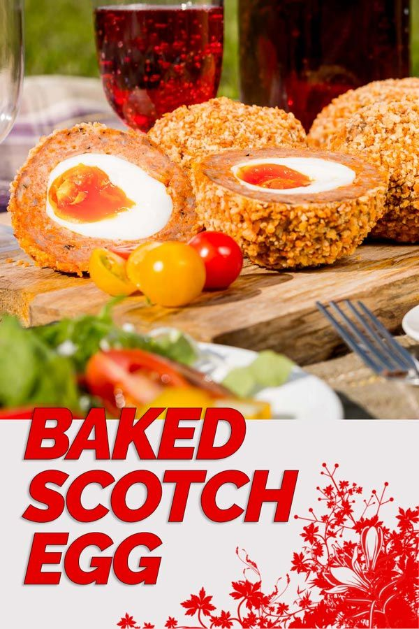 These baked scotch egg are perfect picnic fodder, robust enough to rattle around in a picnic basket and tasty enough to raise smiles all round! #picnicfood #picnic #britishfood #recipe #egg #pork #recipeideas #recipeoftheday via @krumplibrian