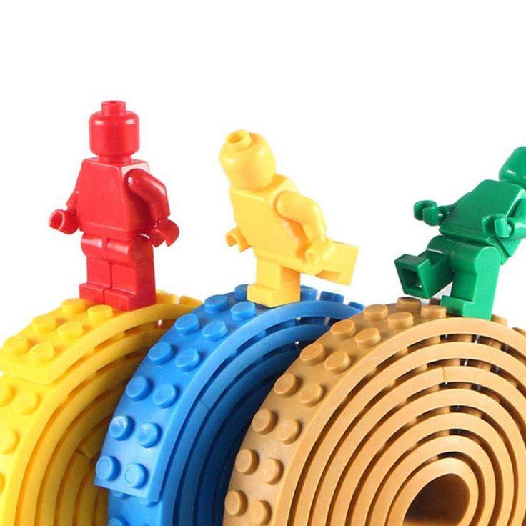 Dots Adhesive Plastic Tape for DIY Building Blocks